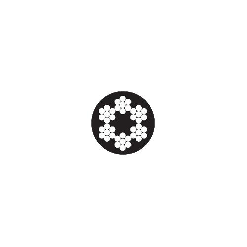 Lina stalowa 6 x 7 + FC PCV
